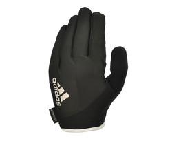 Перчатки для фитнеса (с пальцами) Adidas Essential арт. ADGB-12421WH  (черный/белый)