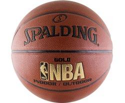 Баскетбольный мяч Spalding NBA Gold, с логотипом NBA р-р 7 Арт. 74-559Z
